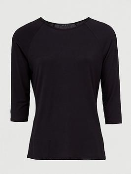 V by Very V By Very Three Quarter Length Sleeved Raglan Tee - Black Picture