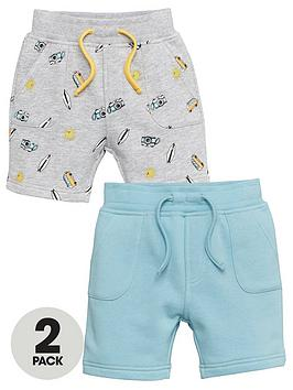 V by Very V By Very Boys 2 Pack Campervan Jog Shorts - Multi Picture