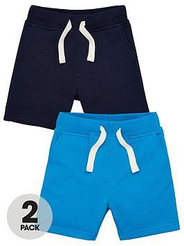 V by Very V By Very Boys 2 Pack Jersey Contrast Back Pocket Shorts - Blue Picture