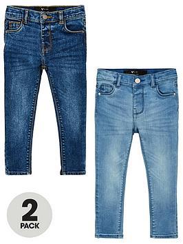 V by Very V By Very Boys 2 Pack Skinny Jeans - Blue Picture