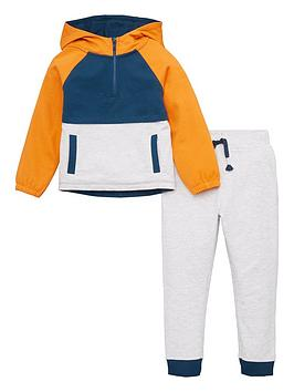 V by Very V By Very Boys Colour Block Hoodie And Jog Set - Multi Picture