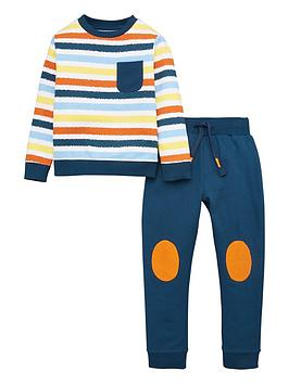 V by Very V By Very Boys Striped Jog Set - Multi Picture