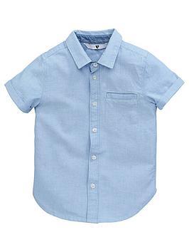 V by Very V By Very Younger Boys Oxford Shirt - Blue