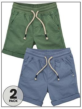 V by Very V By Very Boys 2 Pack Woven Shorts - Blue/Green Picture