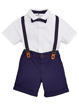 V by Very V By Very Boys Shirt And Short Set With Braces - Multi Picture