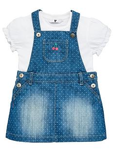 v-by-very-girls-t-shirt-and-spotted-denim-dress-set