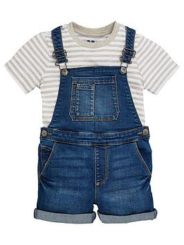 V by Very V By Very Boys Tee And Denim Dungaree - Blue Picture