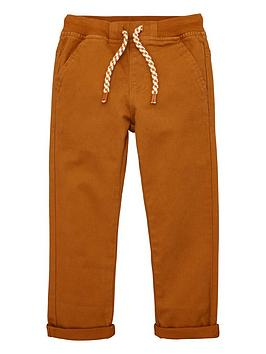 V by Very V By Very Boys Rib Waistband Woven Trouser - Tan Picture
