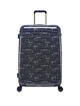 radley-dog-stripe-large-4-wheel-suitcase-ink