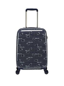 radley-dog-stripe-small-4-wheel-suitcase-ink