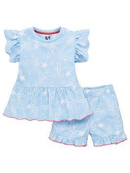 V by Very V By Very Girls Frill Shorty Pyjamas - Multi Picture