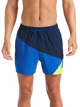 Nike Nike Swim 5 Inch Logo Jackknife Swim Shorts - Navy/Blue/Yellow Picture