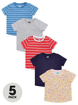 V by Very V By Very Girls Short Sleeve Tees (5 Pack) - Multi Picture
