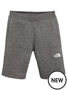 the-north-face-boys-fleece-shorts-grey-heather