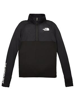 the-north-face-boys-reactor-14-zip-pullover-black