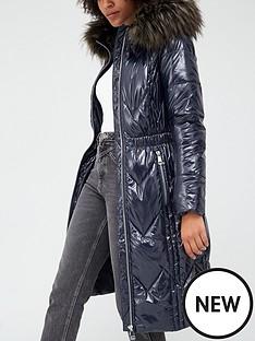 v-by-very-long-high-shine-padded-coat-navy