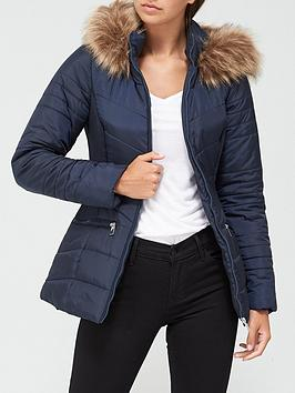 v-by-very-valuenbspshort-faux-fur-trim-padded-coat-navy