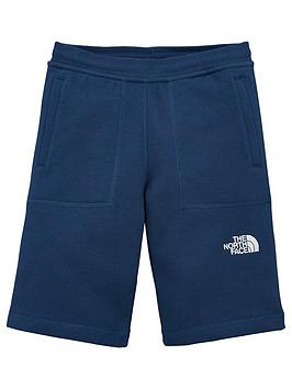 The North Face The North Face Boys Fleece Shorts - Navy Picture