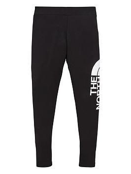 the-north-face-girls-big-logo-leggings-black