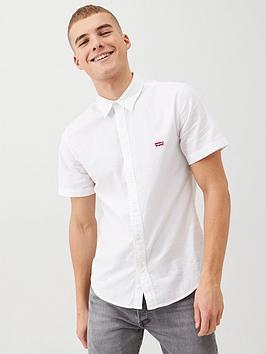 Levi's Levi'S Short Sleeve Battery Housemark Slim Shirt - White Picture
