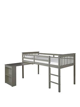 Very Novara Mid Sleeper With Pull Out Desk - Grey Picture