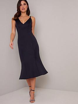 chi chi london Chi Chi London Cecilie Dress - Navy Picture