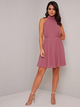 Chi Chi London Petite Chi Chi London Petite Katniss Dress - Pink Picture