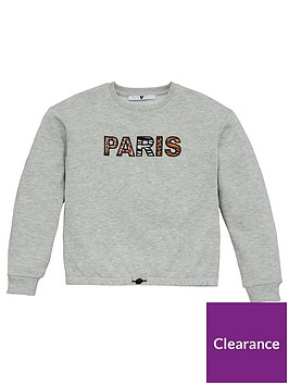v-by-very-girls-paris-animal-print-detail-sweatshirt-grey