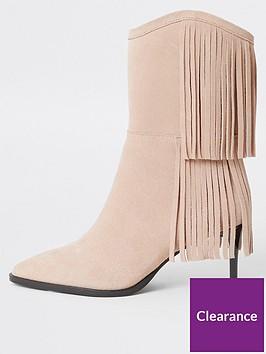river-island-suede-tassel-calf-boot-light-pink