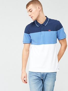 Levi's Levi'S Original Stripe Batwing Polo Top - Blue Picture