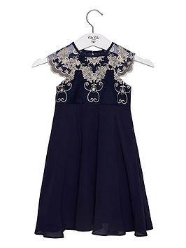 Chi Chi London Girls Riri Dress - Navy