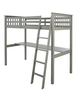 Very Novara High Sleeper With Desk - Grey Picture
