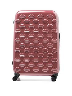 lulu-guinness-antique-rose-large-lips-hardsided-spinner-case