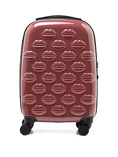 lulu-guinness-antique-rose-small-lips-hardsided-spinner-case
