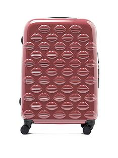 lulu-guinness-antique-rose-medium-lips-hardsided-spinner-case
