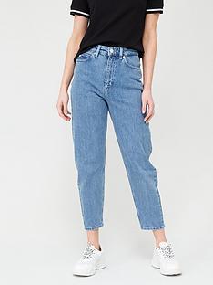 calvin-klein-jeans-crop-mom-jeans-blue