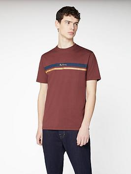 Ben Sherman Ben Sherman Mod Stripe Logo T-Shirt - Dark Red Picture