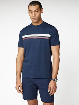 Ben Sherman Ben Sherman Mod Stripe Logo T-Shirt - Navy Picture
