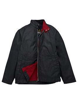 Barbour Barbour Boys Ender Wax Jacket - Navy Picture