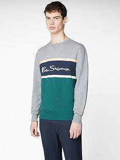 ben-sherman-colour-blocked-logo-sweatshirt-steel