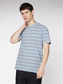 Ben Sherman Ben Sherman Vintage Yd Stripe T-Shirt - Dusky Blue Picture