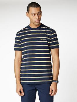ben-sherman-vintage-yd-stripe-t-shirt-dark-navy