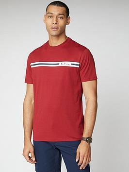 Ben Sherman Ben Sherman Printed Chest Stripe T-Shirt - Red Picture
