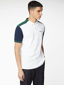 Ben Sherman Ben Sherman Colour Blocked Polo Shirt - White Picture
