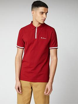 Ben Sherman Ben Sherman Mod Stripe Detail Polo Shirt - Red Picture