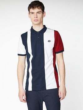 Ben Sherman Ben Sherman Blocked Stripe Polo Shirt - Dark Navy Picture