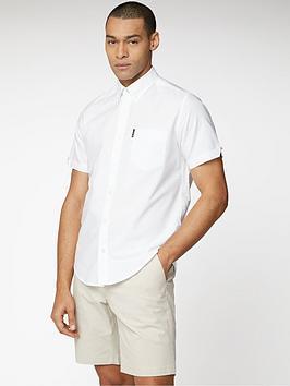 Ben Sherman Ben Sherman Short Sleeve Signature Oxford Shirt - White Picture