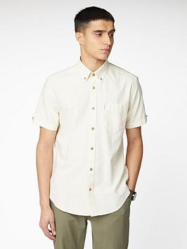 Ben Sherman Ben Sherman Short Sleeve Signature Oxford Shirt - Ecru Picture
