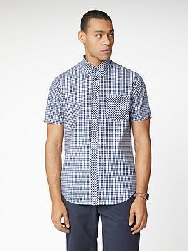 Ben Sherman Ben Sherman Short Sleeve Signature Core Gingham Shirt - Blue Picture
