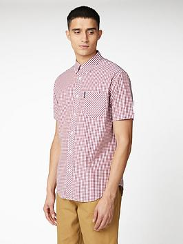 Ben Sherman Ben Sherman Short Sleeve Signature Core Gingham Shirt - Red Picture